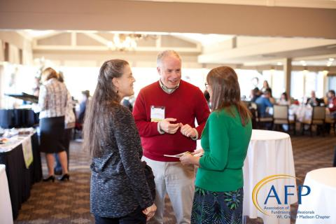 AFP members networking after a recent event.