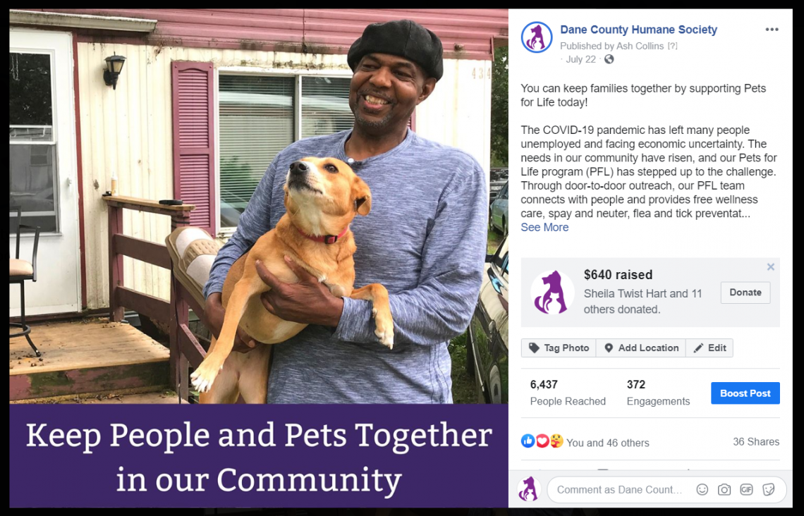 Pets for Life FB Fundraiser